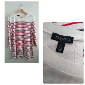 Talbots Striped Long Sleeves Tunic Top